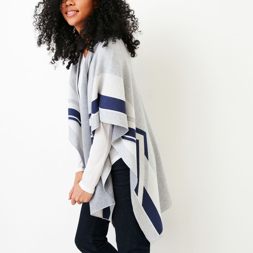 Roots-Women Our Favourite New Arrivals-Travel Wrap-Grey Mix-C