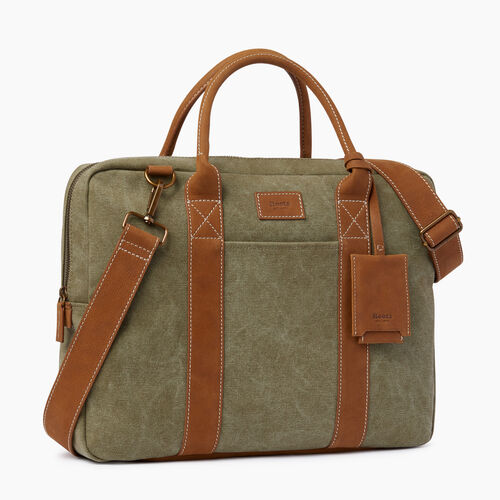 Roots-Men Our Favourite New Arrivals-Wellington Laptop Canvas-Khaki-A