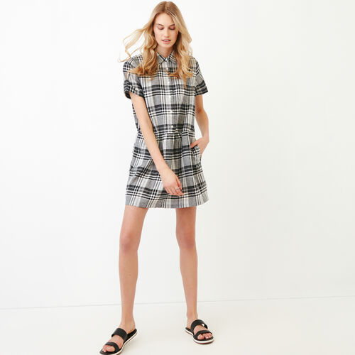 Roots-New For June Plaids-Hartley Dress-Black-A