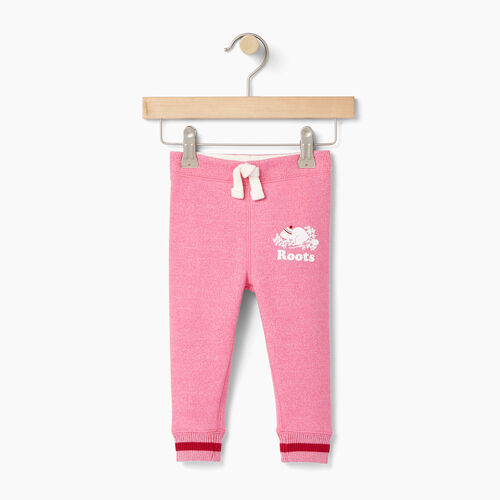 Roots-Clearance Baby-Baby Buddy Cozy Fleece Sweatpant-Pink Pepper-A