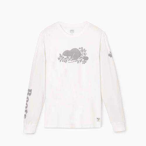 Roots-Men Bestsellers-Mens Remix Long Sleeve  T-shirt-Crisp White-A