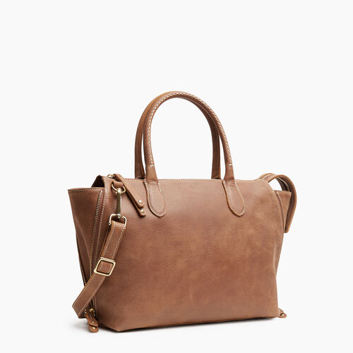 Roots-Leather Handbags-Arianna Bag Tribe-Natural-A