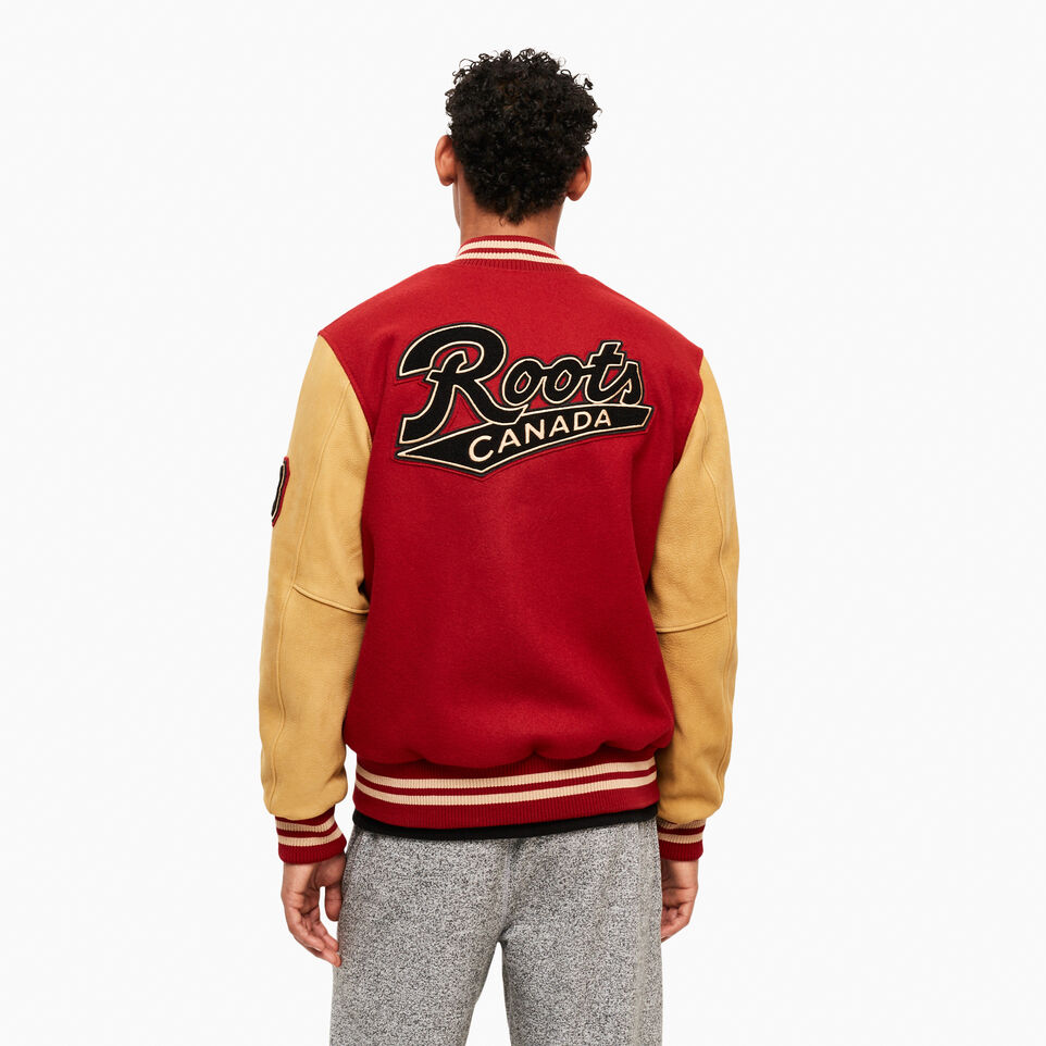 Roots-Men Clothing-Roots Script Award Jacket-Red-D