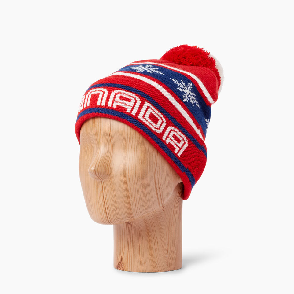 Roots-Kids Our Favourite New Arrivals-Kids Retro Fair Isle Toque-Racing Red-B