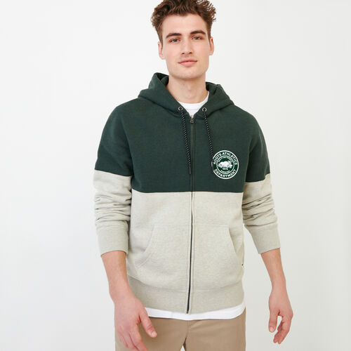 Roots-Clearance Men-Athletic Dept. Zip Hoody-Spray Green Mix-A