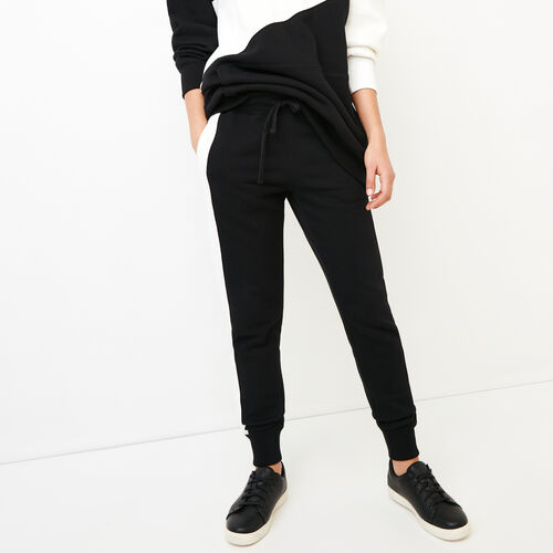 Roots-New For March Sweats-The Slim Contrast Sweatpant-Black-A