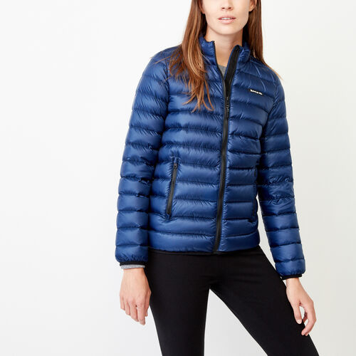 Roots-Women Outerwear-Roots Collar Packable Jacket-Royal Blue-A