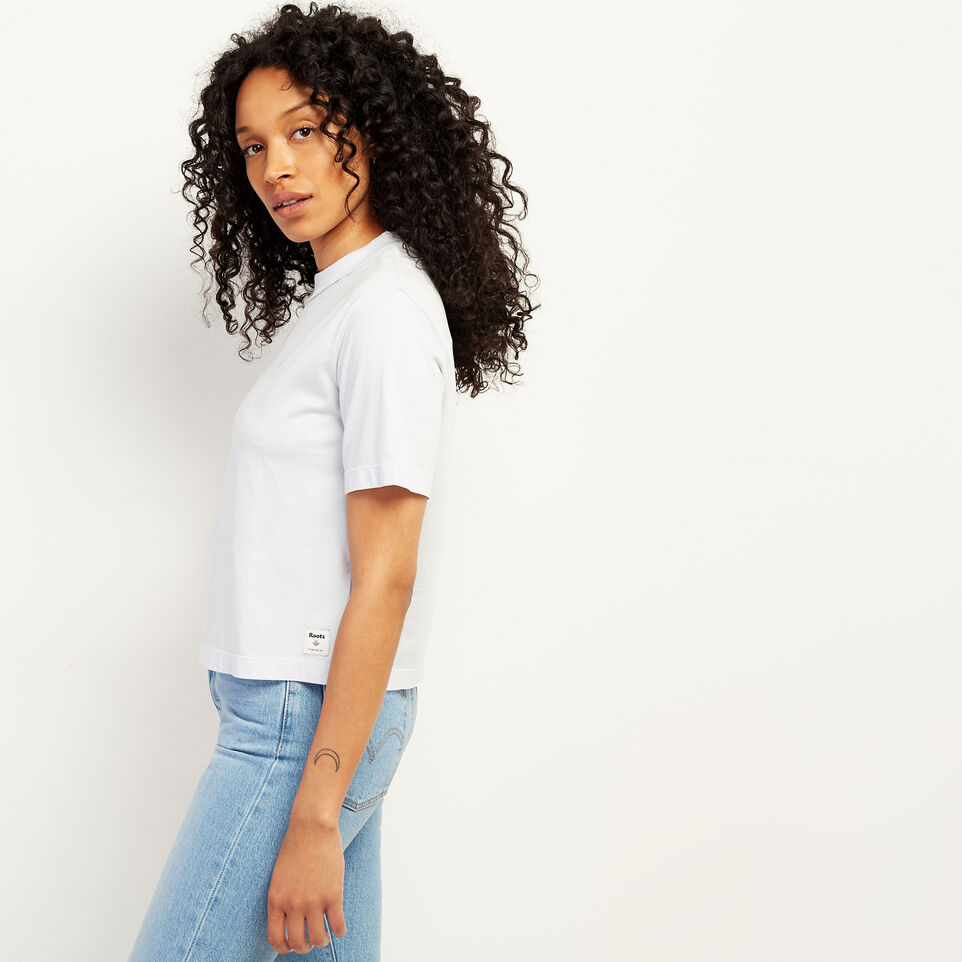 Roots-undefined-Womens Raw Edge Neckline T-shirt-undefined-C