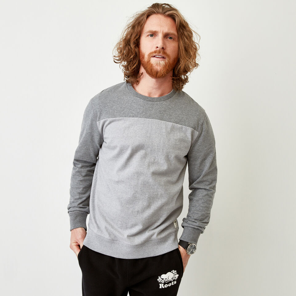 Roots-Men Our Favourite New Arrivals-Fraser Crew Top-Quarry Mix-A