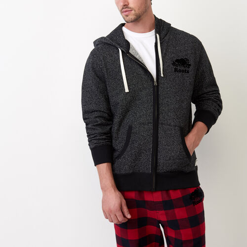 Roots-New For July Men-Original Full Zip Hoody-Black Pepper-A
