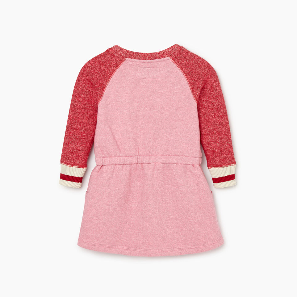 Roots-Kids Baby Girl-Baby Roots Cabin Cozy Dress-Cashmere Rose Pepper-B