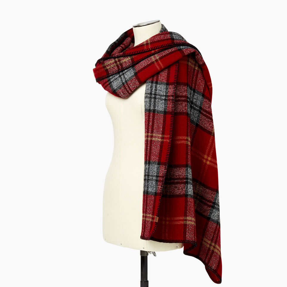 Roots-undefined-Smoke Lake Plaid Blanket Scarf-undefined-B