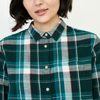 Roots-Women Tops-All Seasons Relaxed Shirt-Varsity Green-E