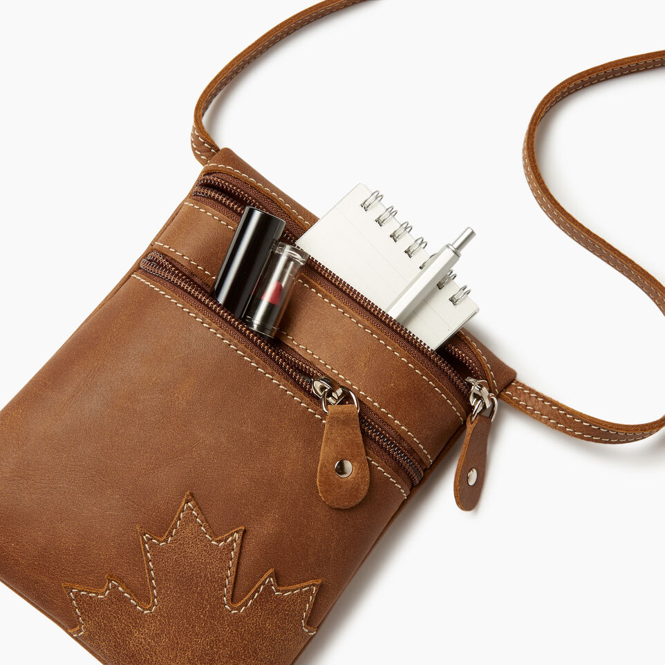 Roots-New For June Canada Collection By Roots™-Trans Canada Pouch-Natural-D