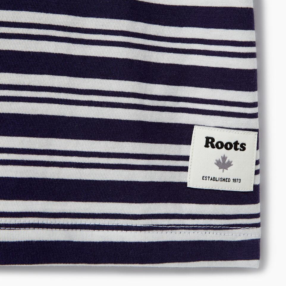Roots-New For August Kids-Girls Open Air T-shirt-Eclipse-C