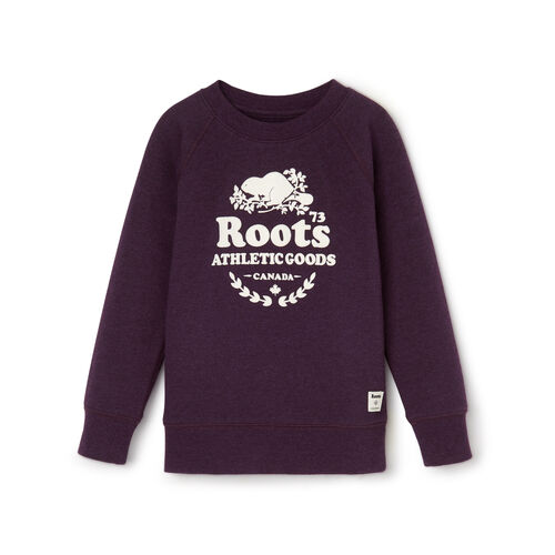 Roots-Clearance Kids-Toddler Laurel Crewneck Sweatshirt-Blackberry Mix-A