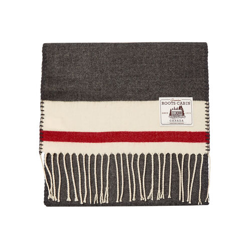 Roots-Gifts Cabin Comfort-Roots Cabin Scarf-Grey Oat Mix-A