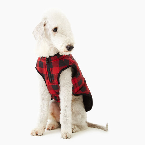 Roots-New For November Men-Pooch Park Plaid Puffer Size 16-Red-A