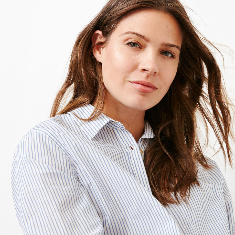 Roots-Women Categories-Relaxed Striped Shirt-Blue Bonnet-E