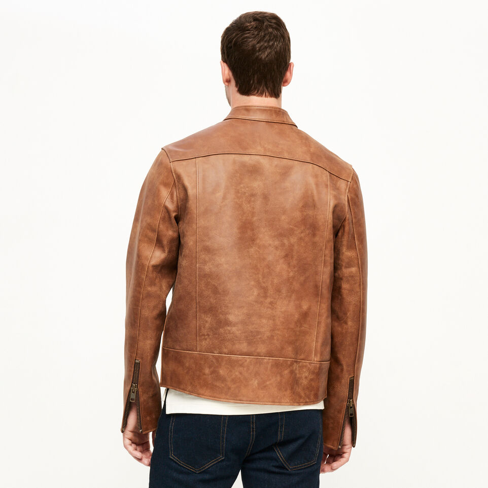 Roots-Leather Leather Jackets-Keith Jacket Tribe-Natural-D