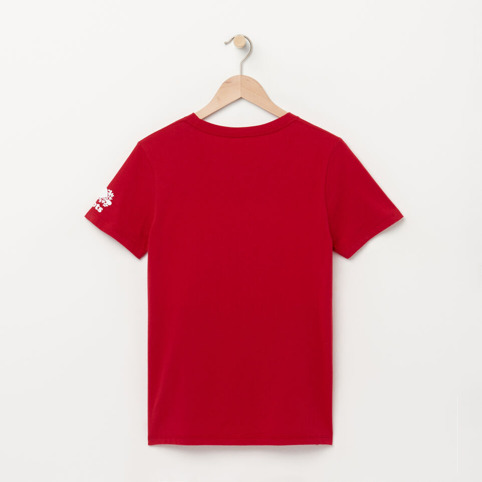 Roots-Women Canada Collection By Roots™-Womens Blazon Tshirt-Sage Red-B