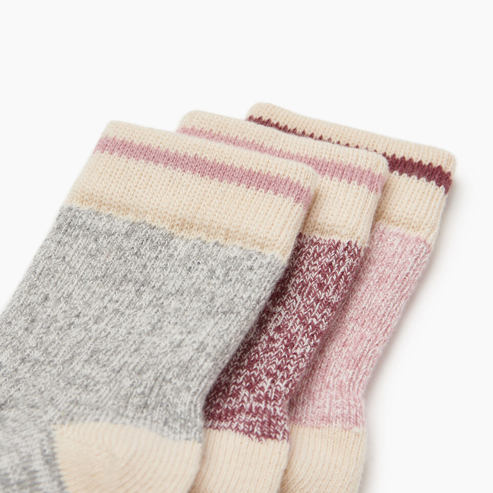 Roots-Kids New Arrivals-Toddler Cabin Sock 3 pack-Pink-C