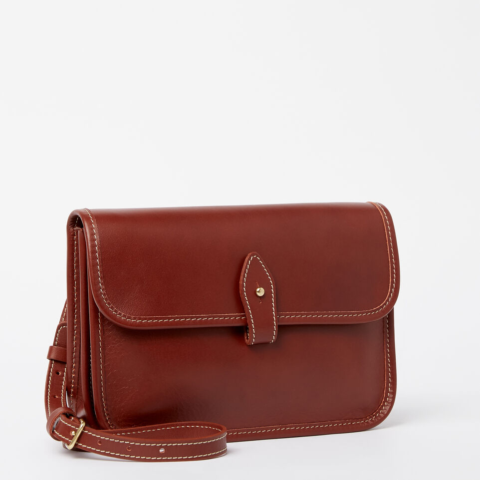 Roots-Winter Sale Leather-Sandys Bag Heritage-Oak-A