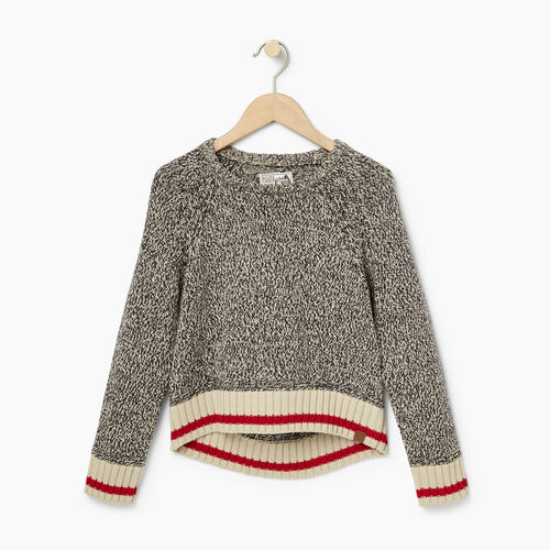 Roots-Kids Our Favourite New Arrivals-Girls Roots Cabin Crop Sweater-Grey Oat Mix-A