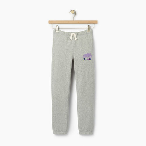 Roots-Clearance Kids-Girls Original Roots Sweatpant-Grey Mix-A
