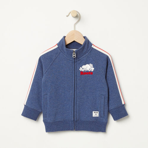 Roots-Sale Baby-Baby National Track Jacket-Cascade Blue Mix-A