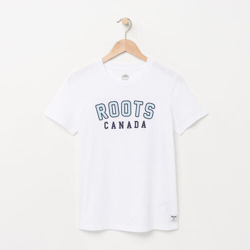 Roots-Women Graphic T-shirts-Womens Classic Roots T-shirt-White-A