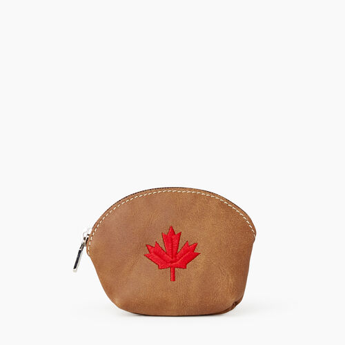 Roots-Leather  Handcrafted By Us Our Favourite New Arrivals-Maple Leaf Euro Pouch-Natural-A