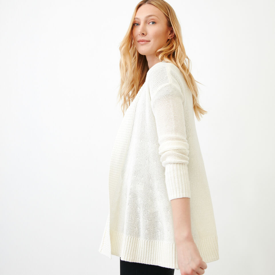 Roots-Women Our Favourite New Arrivals-Hillsview Open Cardigan-Ivory-C