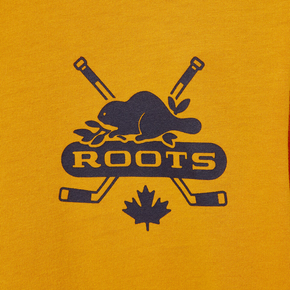 Roots-Kids Our Favourite New Arrivals-Boys Hockey T-shirt-Squash Yellow-C