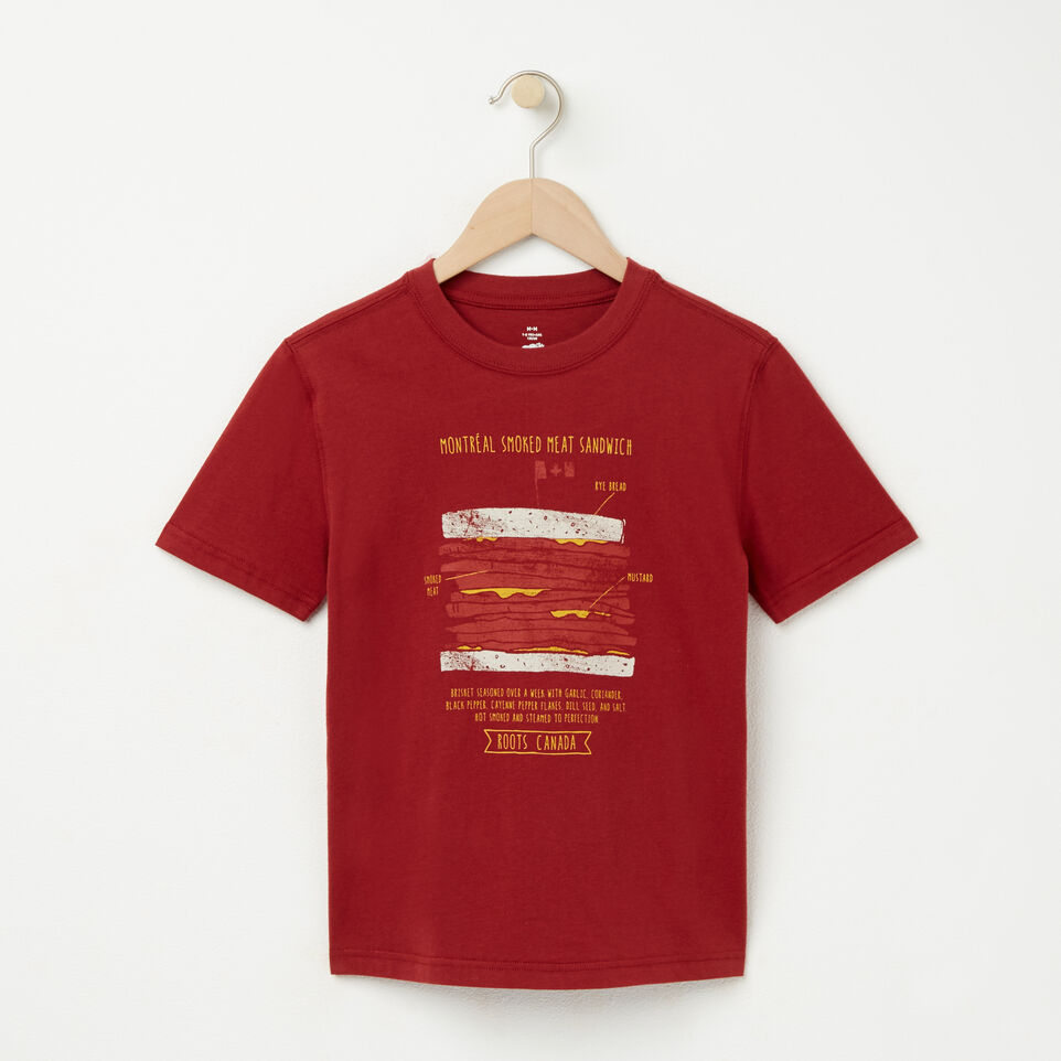 Roots-undefined-Boys Smoked Meat T-shirt-undefined-A