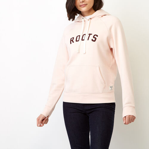 Roots-Women Sweats-Anniversary Hoody-Pink Cloud-A