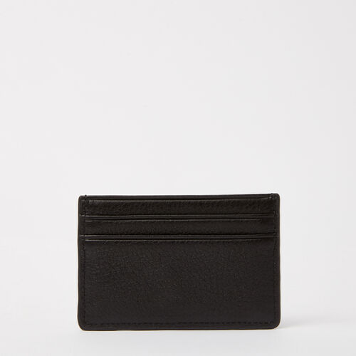 Roots-Leather Women's Wallets-Business Card Holder-Black-A