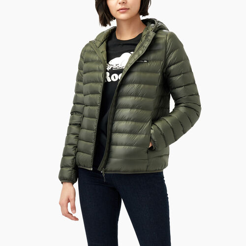 Roots-Women Outerwear-Roots Packable Down Jacket-Loden-A