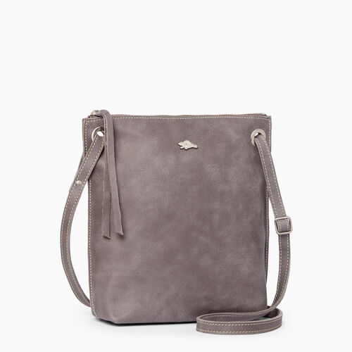 Roots-Leather Handbags-Festival Bag Tribe-Charcoal-A