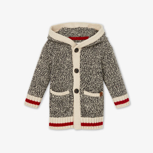 Roots-Kids Baby Girl-Baby Cabin Cardigan-Grey Oat Mix-A