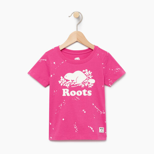 Roots-Kids Our Favourite New Arrivals-Toddler Splatter Aop T-shirt-Raspberry Rose-A