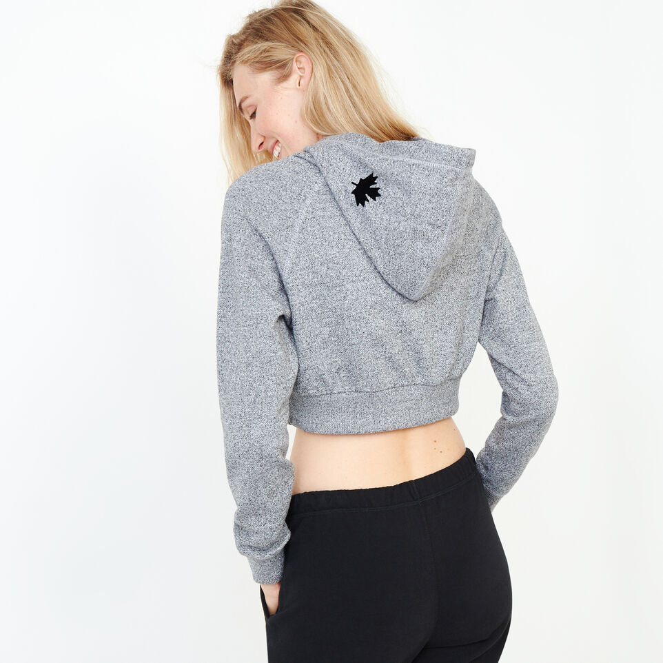 Roots-Women Our Favourite New Arrivals-Roots Salt and Pepper Cropped Hoody-Salt & Pepper-D