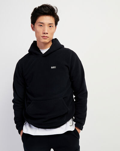 Roots-Men Sweatshirts & Hoodies-Polartec® x Roots Journey Kanga Hoody-Black-A