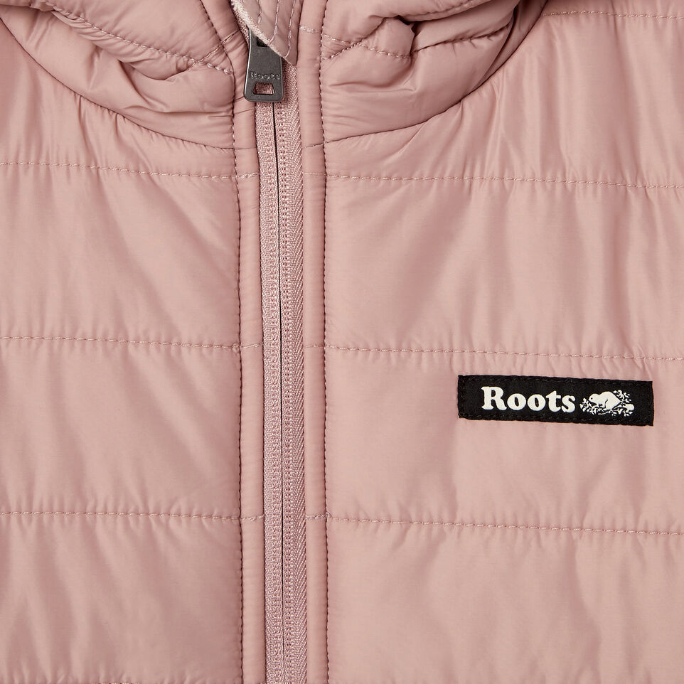 Roots-New For March Daily Offer-Girls Roots Hybrid Hoody Jacket-Woodrose-C