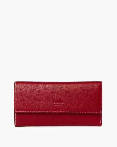 Roots-Women Wallets-Medium Trifold Clutch Cervino-Harvest Red-A