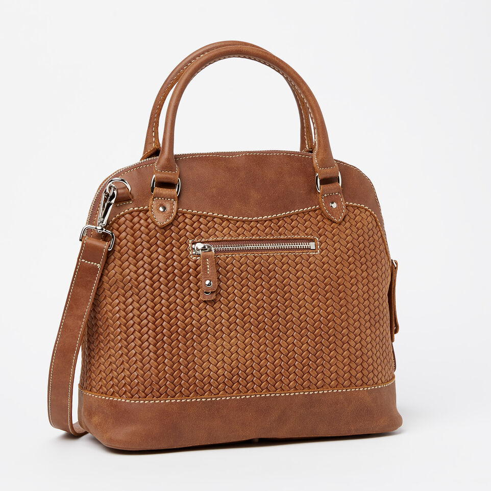 Roots-undefined-Sac Cafe en cuir tressé Tribe-undefined-C