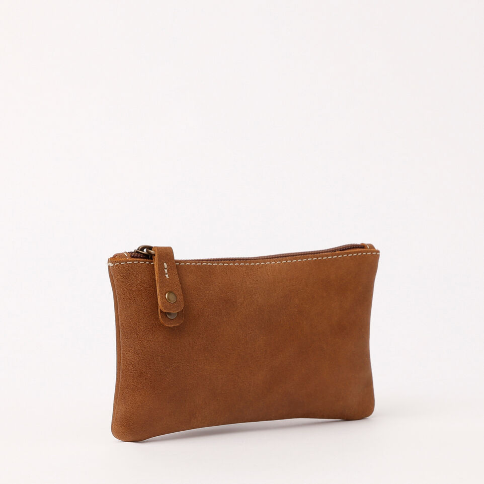 Roots-Medium Zip Pouch Tribe