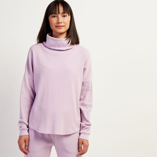 Roots-Women Tops-Kinuso Turtleneck Top-Fair Orchid-A