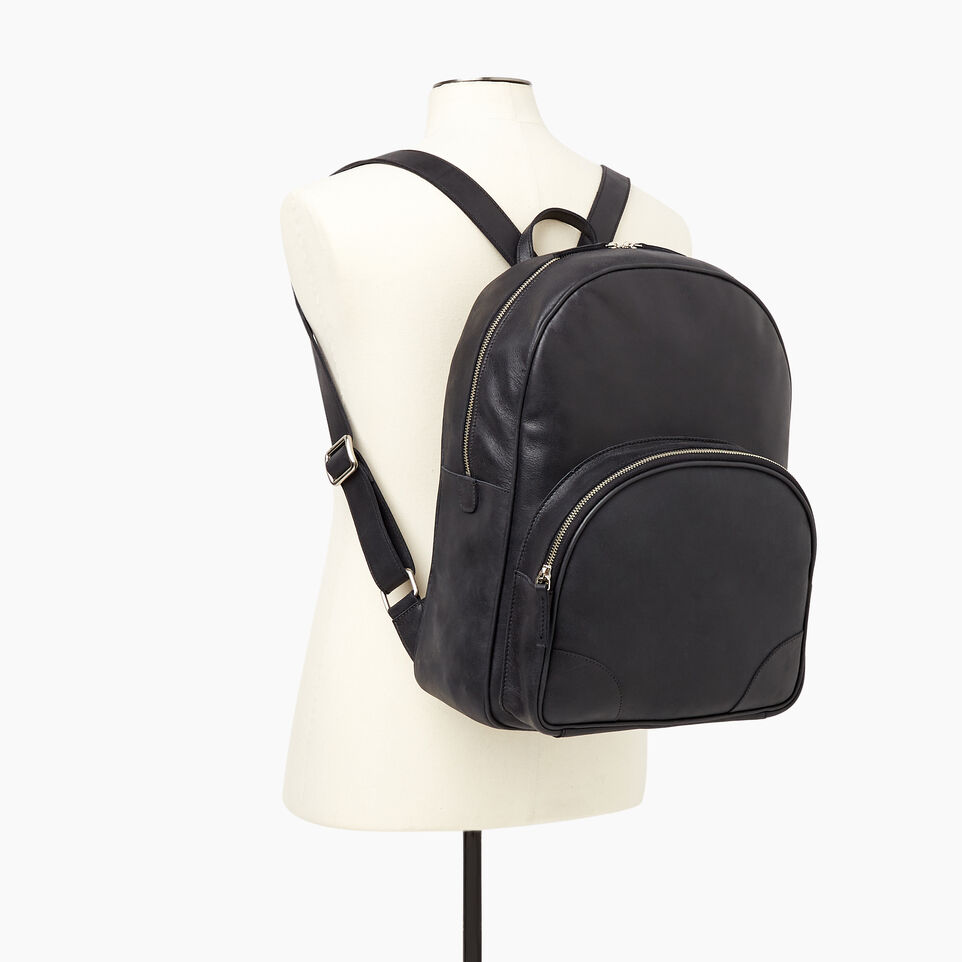 Roots-Leather Our Favourite New Arrivals-Jasper Backpack-Jet Black-B
