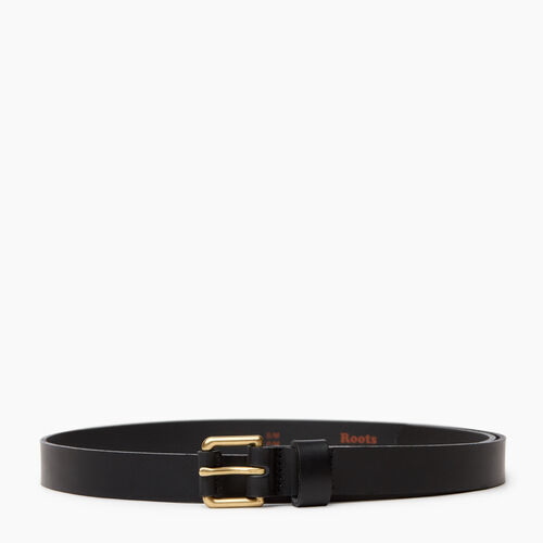 Roots-Women Categories-Roots Womens Leather Roller Belt-Black-A